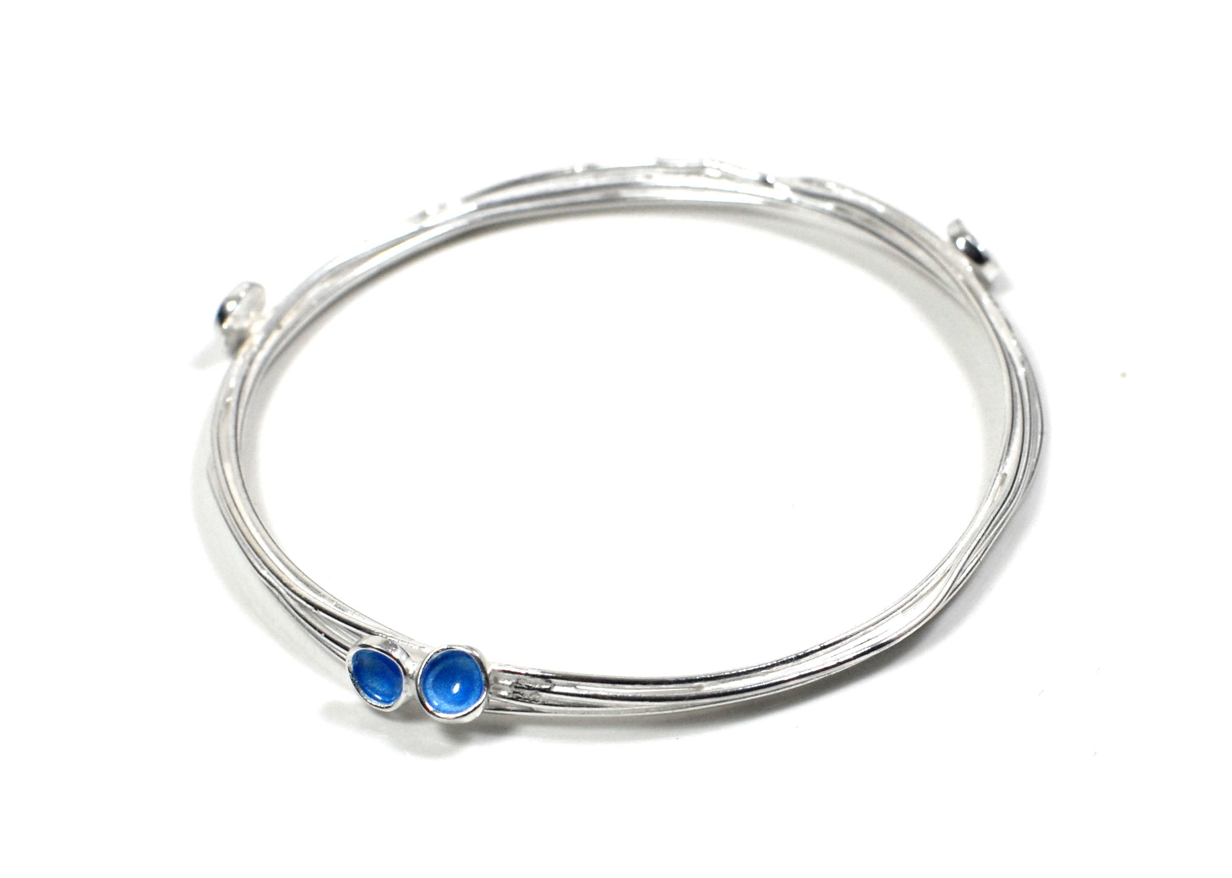 Flourish wrap bangle with buds