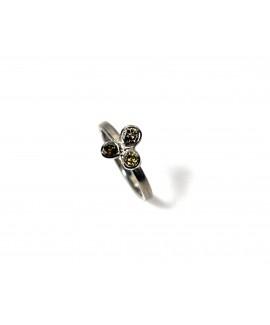 Flourish white gold and coloured diamond ring