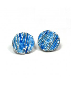 Strata enamelled ear stud