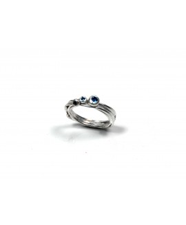 Flourish wrap ring blue topaz